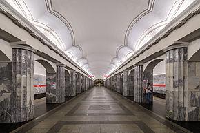 Metro_SPB_Line1_Baltyskaya_Central_Hall